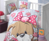 Lenjerie de patut Ranforce Cute Puppy 100x150