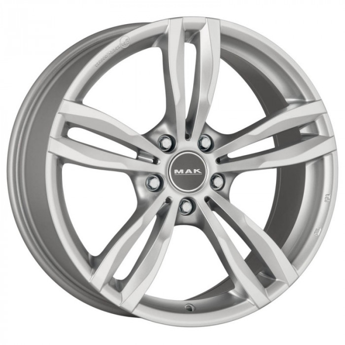 Jante BMW Seria 5 X-Drive Touring Staggered 8J x 18 Inch 5X120 et34 - Mak Luft Silver - pret / buc