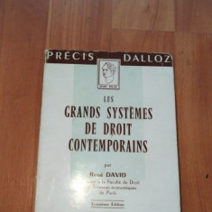 LES GRANDS SYSTEMES DE DROIT CONTEMPORAINS-RENE DAVID