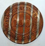 C.190 JETON GERMANIA WESTFALIA WESTFÄL. NICKELWALZWERK SCHWERTE 100 BIMETAL