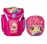 Ghiozdan scoala Explorer + sac sport, LEGO Core Line - design roz Friends Cupcake, Fata, Rucsac