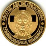 Moneda Aur,24k BNR 31 gr. 2000 de ani de creştinism