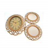 Set decorativ cu ceas si oglinzi