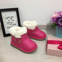Cizme imblanite roz fuchsia cu catarama pt copii fete bebe 20 21 22 23 24 25, Din imagine