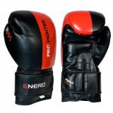 Manusi de Box Enero Pro Fighter, 10 OZ, negru/rosu