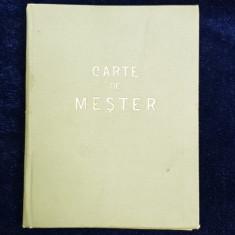 CARNET DE MESTER IN BREASLA BARBIERILOR , ELIBERAT DE CASA CENTRALA A MESERIILOR , CREDITULUI SI ASIGURARILOR MUNCITORESTI , LA 12 AUGUST 1914
