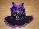 Costum carnaval serbare rochie dans vrajitoare pentru copii de 8-9-10 ani, 8-9 ani, Din imagine