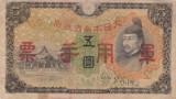 OCUPATIA JAPONEZA IN CHINA 5 yen ND 1938 VF-!!!