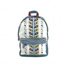 Ghiozdan Embroidery, gimnaziu, 2 fermoare, model motive etno, Pigna