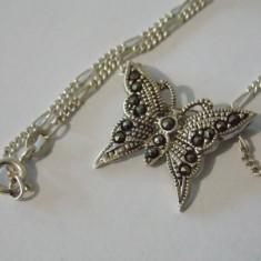 Lantisor si pandant argint cu marcasite  -589