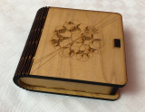 Impresionanta cutie cu 4 suporturi de pahare, arta scandinava frumos stilizata