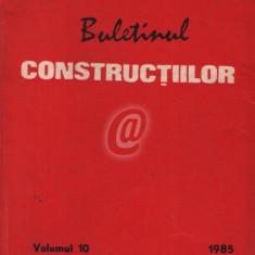 Buletinul constructiilor, vol. 10 (1985)