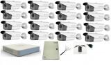 Cumpara ieftin Kit 16 camere supraveghere Turbo HD 2MP 1080p HikVision, Exterior + DVR Turbo HD 16 canale + Sursa + Cablu + Mufe