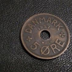 Monedă 5 ore 1927 Danemarca