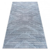 Covor Structural SIERRA G5013 țesute plate albastru - Zig zag, etnic, 180x270 cm
