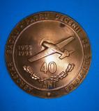 SV * Romania MEDALIE 1993 * Aerostat Bacău 40 Ani Activitate * 1953