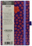Cumpara ieftin Bloc Notes Ivory Graphic, 192 pagini, velin, motiv Little Flowers