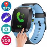 Ceas smartwatch GPS copii, functie telefon, handsfree, buton SOS, lanterna, camera foto