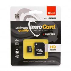 Card memorie IMRO microSD 8GB, Clasa 10 cu adaptor SD