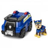 Vehicul cu roti functionale, cu figurina Chase, Patrula Catelusilor