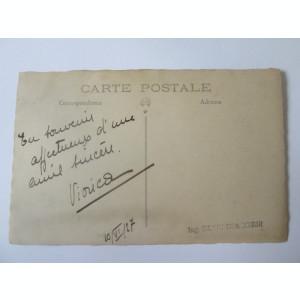 Rara! Fotografie 140x90 mm cu autograf cantareata si actrita Viorica Vrioni 1927
