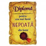 Magnet Diploma pentru Cea mai buna NEPOATA din lume, lemn, Alexer