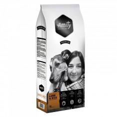 Cumpara ieftin Hrana uscata pentru caini Amity Premium Miel si Orez, 15 kg