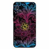 Cumpara ieftin Carcasa Husa Samsung Galaxy A10 model Neon Flower, Antisoc + Folie sticla securizata Samsung Galaxy A10 Tempered Glass Viceversa
