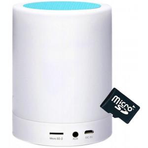 Boxa Portabila cu Lampa Bluetooth iUni M16, Multicolor, Blue + Card 4GB Cadou