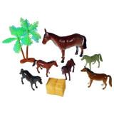 Jucarie Set herghelia de cai cu figurine palmieri
