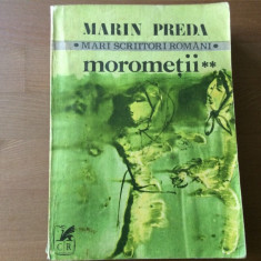 marin preda morometii vol II mari scriitori romani cartea romaneasca 1981 RSR