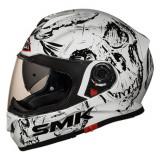 Casca inchisa SMK TWISTER SKULL GL120 culoare alb negru marimea L