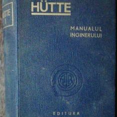 MANUALUL INGINERULUI CHIMIST -HUTTE