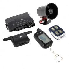 Alarma auto cu pornire motor de la distanta Carguard, ALC-G2500, 1 pager + 1 telecomanda