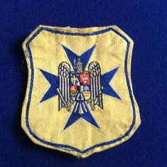 "EMBLEMA TEXTILA MILITARA - ECUSON - ,,STRAJA TARII"" (sfarsitul anilor 1930)"