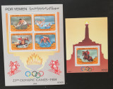 PDR YEMEN - Olimpiada de vara-LOS ANGELES 1984-1M/SH.+1S/Sh, NEOBLIT. -YS 01B