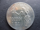 ROMANIA 100.000 LEI 1946.  Argint. (10)