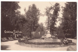 5196 - TARGU-JIU, Public Garden, Romania - old postcard, real PHOTO - unused