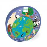 Puzzle Scratch, Lumea animalelor, 45 piese