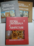 ISTORIA UNIVERSALA A ARHITECTURII -Gheorghe Curinschi Vorona - 3 volume