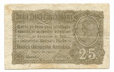 Ocuatia germana in Romania 25 bani 1917   VG  Serie si numar: F.8628263