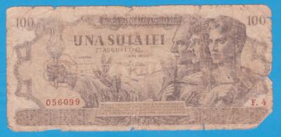 (17) BANCNOTA ROMANIA - 100 LEI 1947 (27 AUGUST 1947) foto