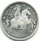 Gibraltar 14 ECUs / 10 Pounds 1992 - Argint 10g/925, Aoc1 , KM-109 UNC !!!