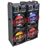SET 2 BOXE 2X10 inch/25CM 850W CU USB/SD/AUX/BLUETOOTH + TELECOMANDA