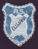 Anii 70 - Emblema sportiva brodata A.S. CLUJANA Cluj