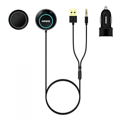 Kit hands-free Himbox pentru masina, conexiune Bluetooth 4.0, Jack 3.5 mm foto