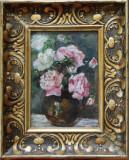 Semnătură indescifrabilă - Vază cu flori
