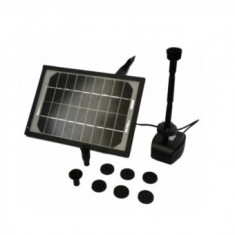 Pompa cu panou solar pentru fantana arteziana Bass BS-7964, 5 x iluminare Led