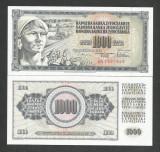 IUGOSLAVIA 1.000 1000 DINARI DINARA 1978 UNC [1] P - 92c , necirculata