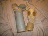 Masca de gaze veche/Militara/Apararea civila/Colectie/Decor/Razboi/Vintage